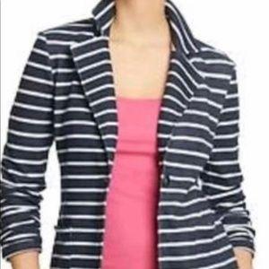 NWT Old Navy white/navy striped blazer size medium